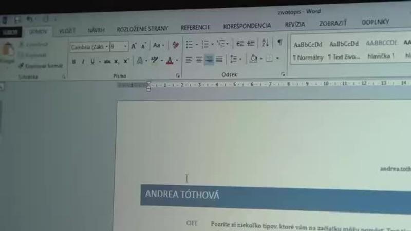 Office 365 Najdi Si Pracu S Profesionalne Napisanym Zivotopisom